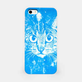 Thumbnail image of cat big eyes wswb iPhone Case, Live Heroes