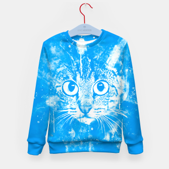 cat big eyes wswb Kid's sweater thumbnail image