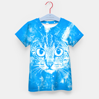 cat big eyes wswb Kid's t-shirt thumbnail image