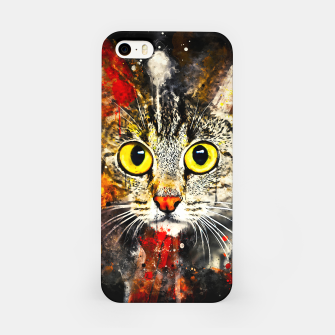 Thumbnail image of cat big eyes wsstd iPhone Case, Live Heroes