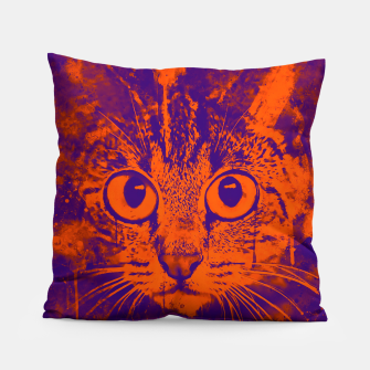 Thumbnail image of cat big eyes wsvo Pillow, Live Heroes