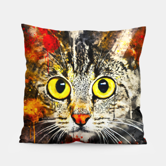 Thumbnail image of cat big eyes wsstd Pillow, Live Heroes