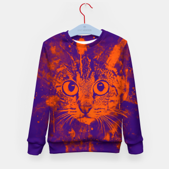Miniature de image de cat big eyes wsvo Kid's sweater, Live Heroes