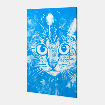 cat big eyes wswb Canvas thumbnail image