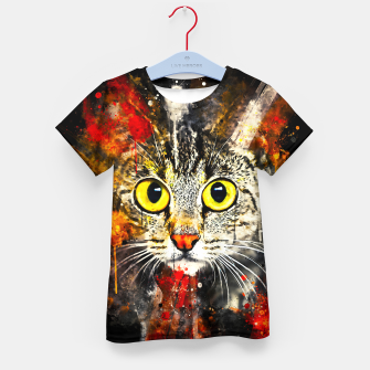 Thumbnail image of cat big eyes wsstd Kid's t-shirt, Live Heroes