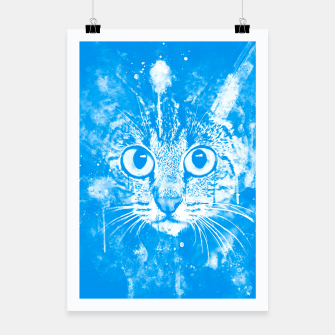 cat big eyes wswb Poster thumbnail image