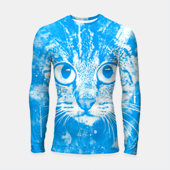 Thumbnail image of cat big eyes wswb Longsleeve rashguard , Live Heroes
