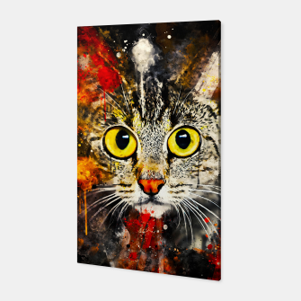Thumbnail image of cat big eyes wsstd Canvas, Live Heroes