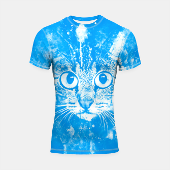 cat big eyes wswb Shortsleeve rashguard thumbnail image