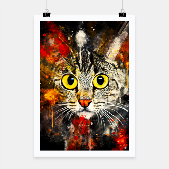 Thumbnail image of cat big eyes wsstd Poster, Live Heroes