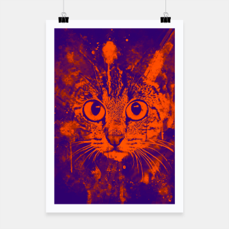 Thumbnail image of cat big eyes wsvo Poster, Live Heroes