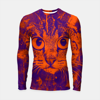 Thumbnail image of cat big eyes wsvo Longsleeve rashguard , Live Heroes