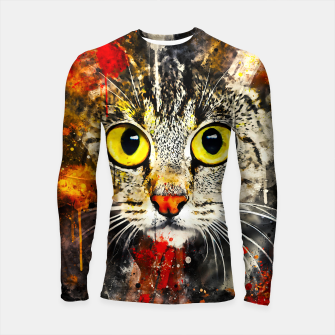 Thumbnail image of cat big eyes wsstd Longsleeve rashguard , Live Heroes