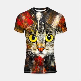 Thumbnail image of cat big eyes wsstd Shortsleeve rashguard, Live Heroes