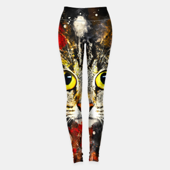 Thumbnail image of cat big eyes wsstd Leggings, Live Heroes