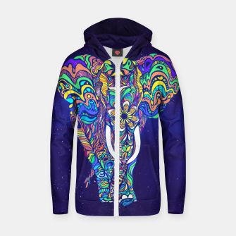 Thumbnail image of Not a circus elephant 2019 by #Bizzartino Zip up hoodie, Live Heroes