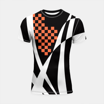 Miniaturka Racing Orange Shortsleeve rashguard, Live Heroes