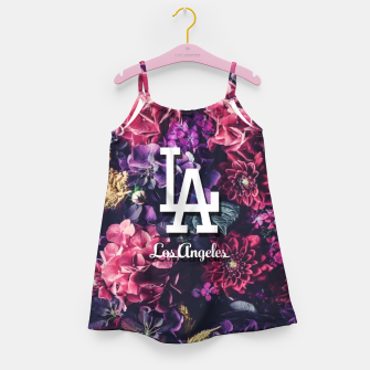 Los Angeles City Skyline Girl's dress thumbnail image