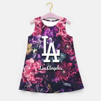 Los Angeles City Skyline Girl's summer dress thumbnail image