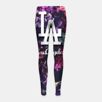 Los Angeles City Skyline Girl's leggings thumbnail image