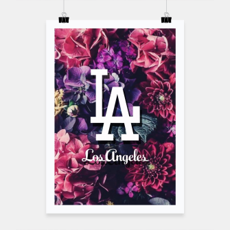 Los Angeles City Skyline Poster thumbnail image