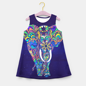 Thumbnail image of Not a circus elephant 2019 by #Bizzartino Girl's summer dress, Live Heroes