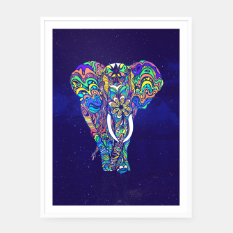 Thumbnail image of Not a circus elephant 2019 by #Bizzartino Framed poster, Live Heroes