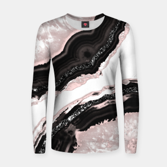 Thumbnail image of Agate Glitter Glam #6 #gem #decor #art  Frauen sweatshirt, Live Heroes