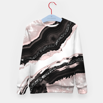 Thumbnail image of Agate Glitter Glam #6 #gem #decor #art  Kindersweatshirt, Live Heroes