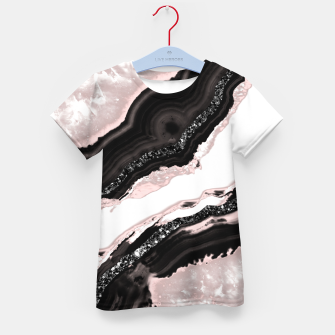Thumbnail image of Agate Glitter Glam #6 #gem #decor #art  T-Shirt für kinder, Live Heroes