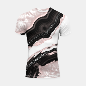 Thumbnail image of Agate Glitter Glam #6 #gem #decor #art  Shortsleeve rashguard, Live Heroes