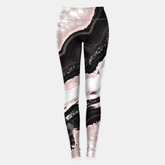 Thumbnail image of Agate Glitter Glam #6 #gem #decor #art  Leggings, Live Heroes