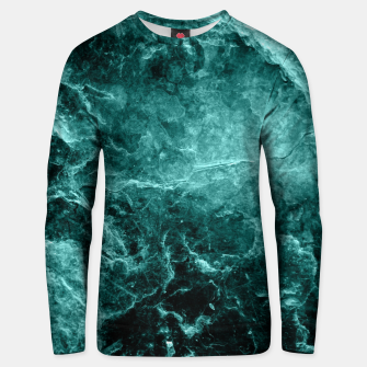 Miniaturka Enigmatic Deep Green Marble #1 #decor #art  Unisex sweatshirt, Live Heroes