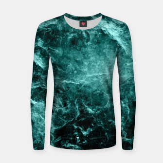 Miniaturka Enigmatic Deep Green Marble #1 #decor #art  Frauen sweatshirt, Live Heroes