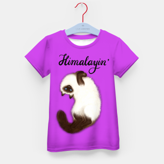 Thumbnail image of Himalayin' (Purple) Kid's t-shirt, Live Heroes