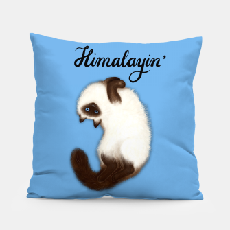 Thumbnail image of Himalayin' (Blue) Pillow, Live Heroes