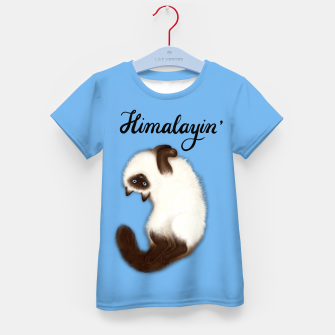 Thumbnail image of Himalayin' (Blue) Kid's t-shirt, Live Heroes