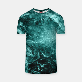Miniaturka Enigmatic Deep Green Marble #1 #decor #art  T-Shirt, Live Heroes