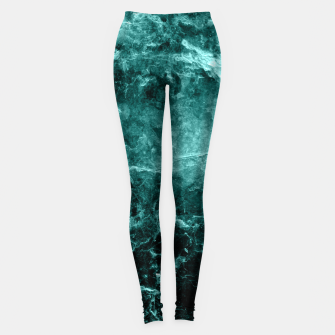 Thumbnail image of Enigmatic Deep Green Marble #1 #decor #art  Leggings, Live Heroes