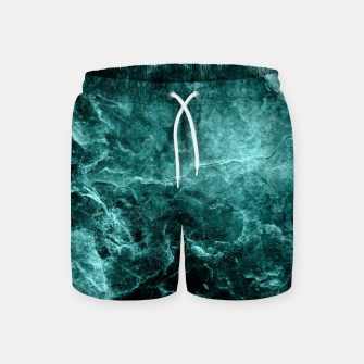 Thumbnail image of Enigmatic Deep Green Marble #1 #decor #art  Badeshorts, Live Heroes