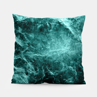 Thumbnail image of Enigmatic Deep Green Marble #1 #decor #art  Kissen, Live Heroes