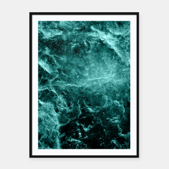 Thumbnail image of Enigmatic Deep Green Marble #1 #decor #art  Plakat mit rahmen, Live Heroes