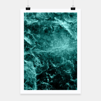 Thumbnail image of Enigmatic Deep Green Marble #1 #decor #art  Plakat, Live Heroes