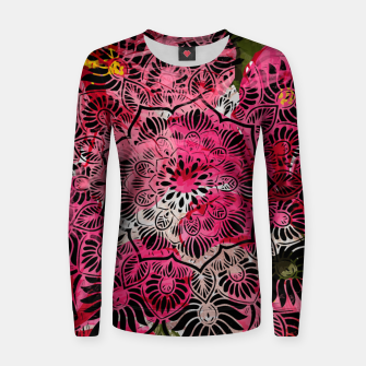 Miniaturka Mandala and Peonies Women sweater, Live Heroes