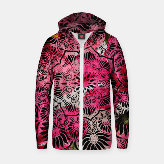 Miniaturka Mandala and Peonies Zip up hoodie, Live Heroes