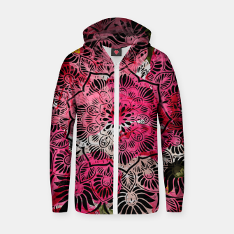 Miniature de image de Mandala and Peonies Zip up hoodie, Live Heroes