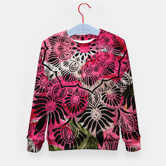 Miniature de image de Mandala and Peonies Kid's sweater, Live Heroes