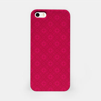 Miniaturka red ornament geometric , abstract iPhone Case, Live Heroes