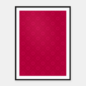 Miniaturka red ornament geometric , abstract Framed poster, Live Heroes
