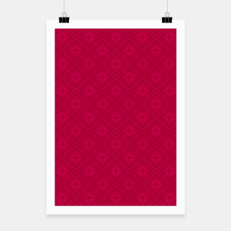 Miniaturka red ornament geometric , abstract Poster, Live Heroes
